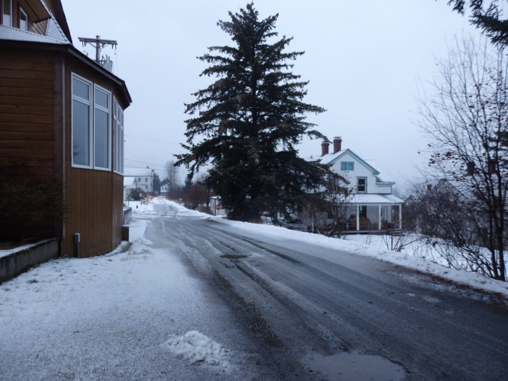Snow near the Chilkat Center in Haines. (Emily Files)