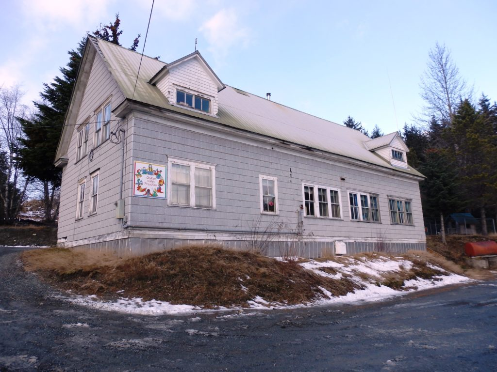 The Chilkat Valley Preschool currently occupies the borough-owned Human Resources Building. (Emily Files)