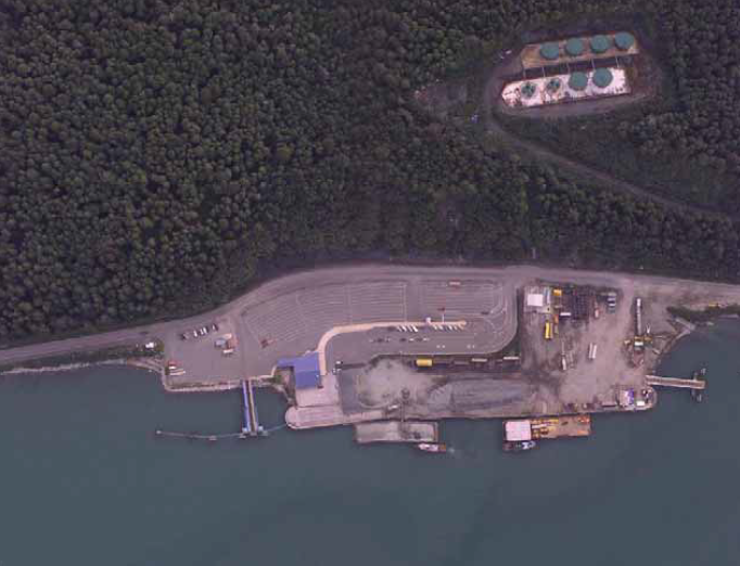 An aerial view of Lutak Dock. (R&M Consulting)