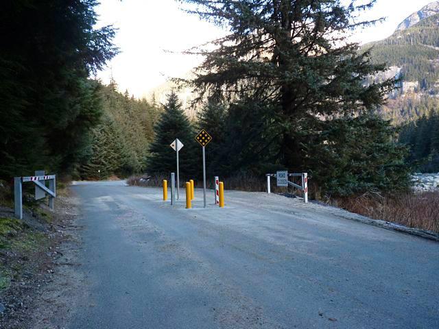 The recently-installed gate. (Kathleen Menke)