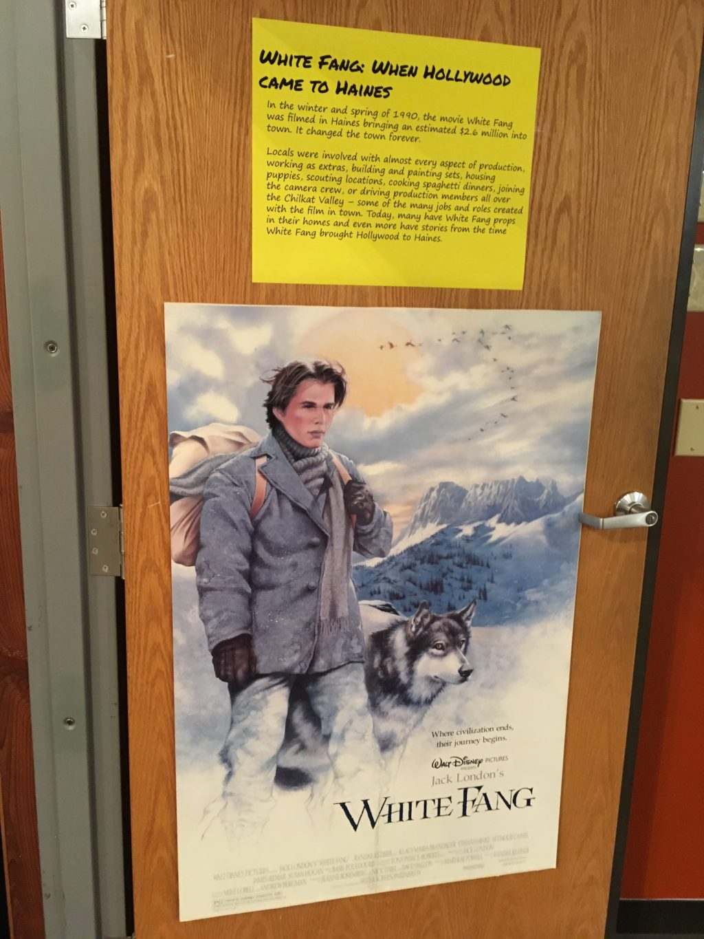The White Fang exhibit is open through February 24. (Abbey Collins)