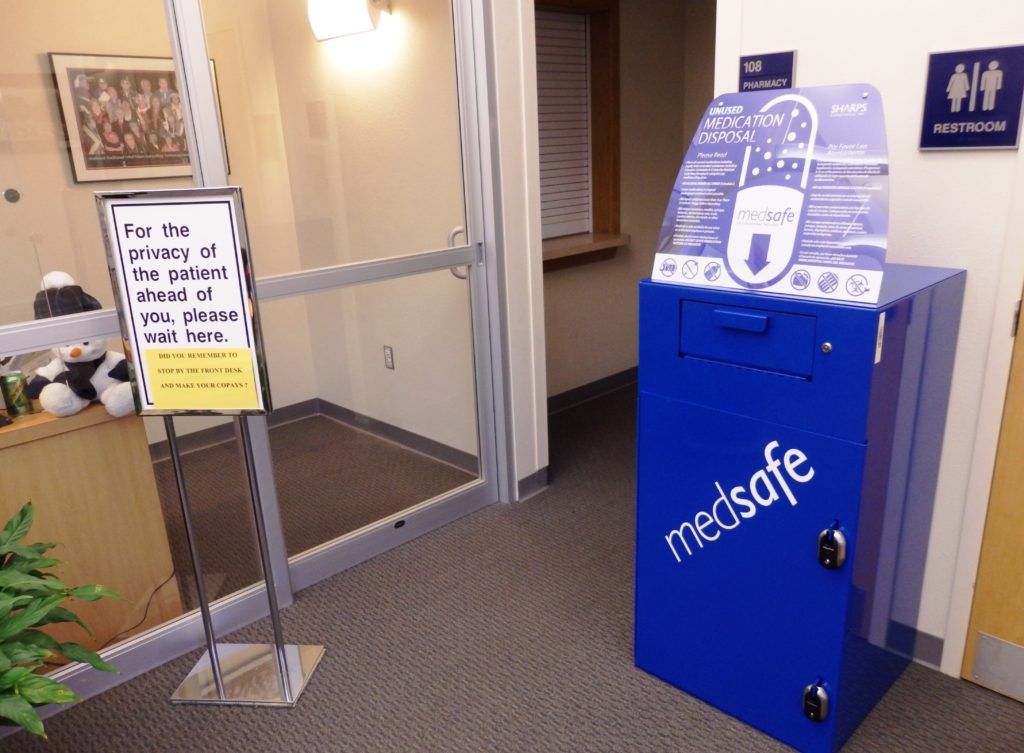 Haines clinic drop-off box allows for safe disposal of medication