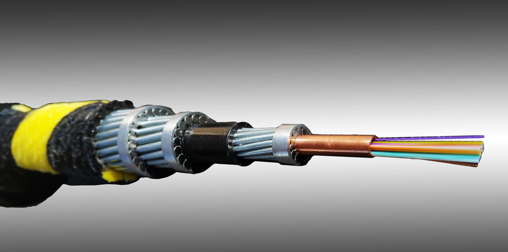 A view of the fiber-optic cable. (Courtesy AP&T)