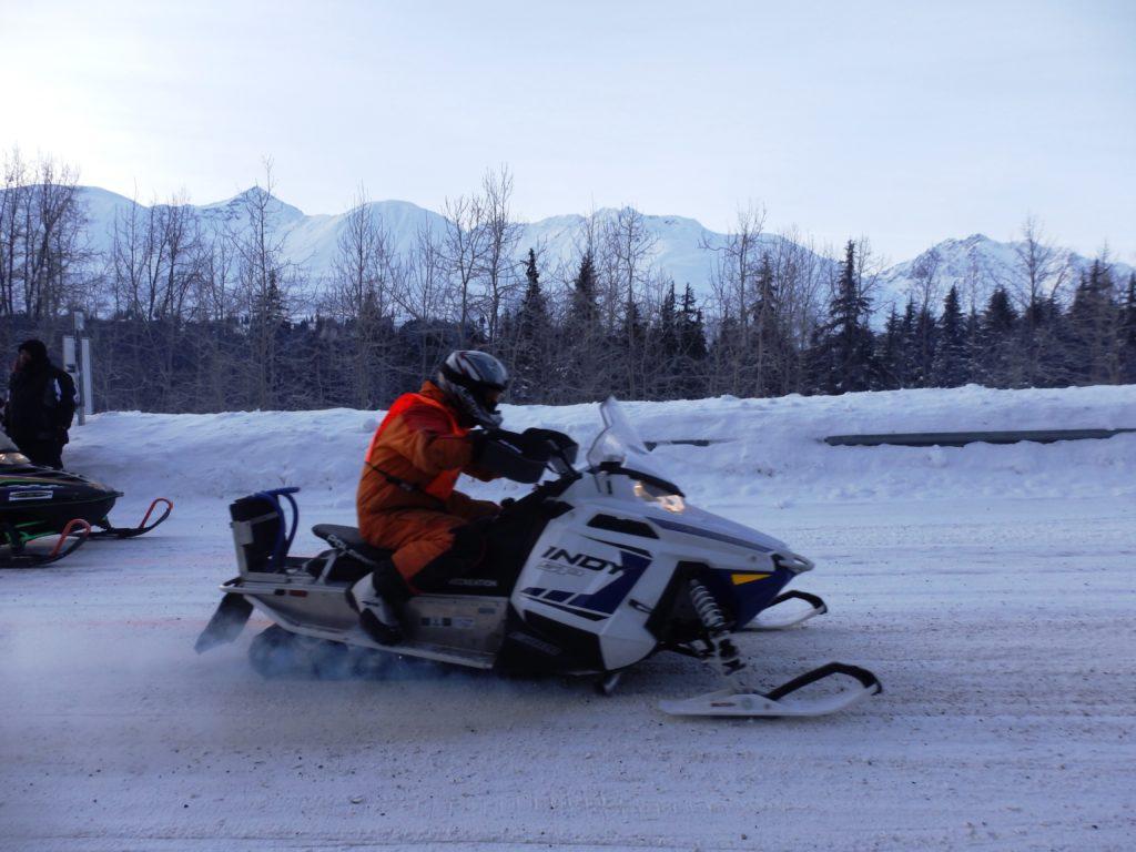 Riders faced temperatures around -40 degrees F near Dezadeash. (Emily Files)