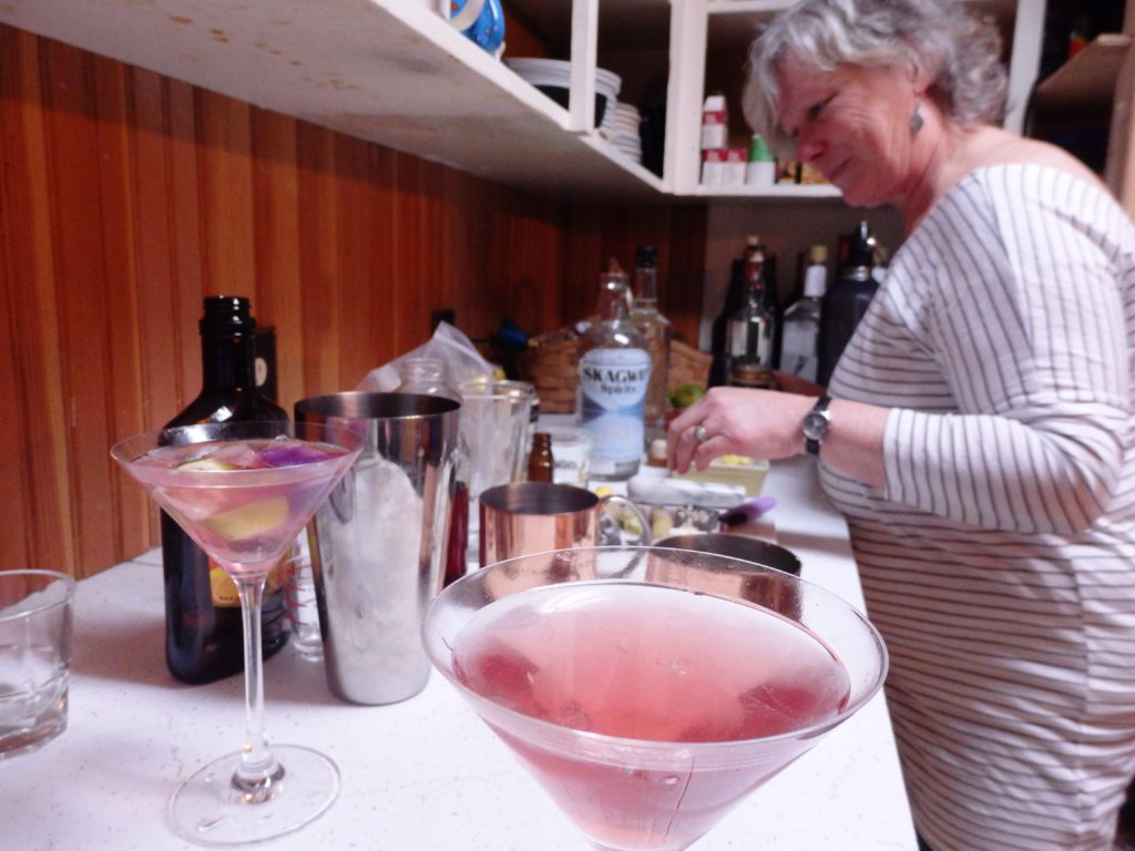 This fireweed-infused Cosmo is one of the drinks Janilyn Heger plans to include on Skagway Spirits' cocktail menu. (Emily Files)