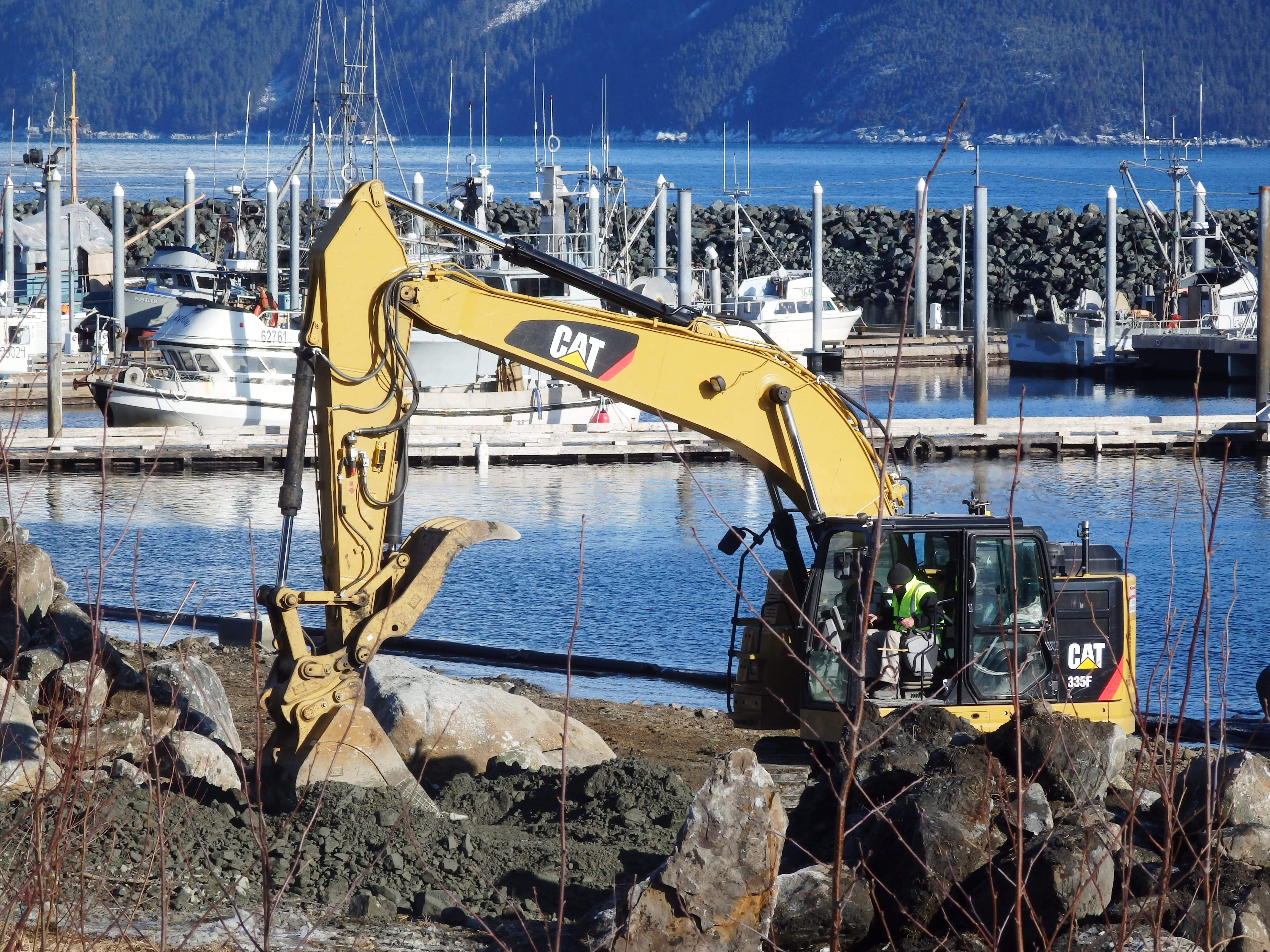Work begins on divisive Haines harbor expansion