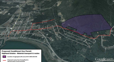 This graphic shows the location of the extraction area.