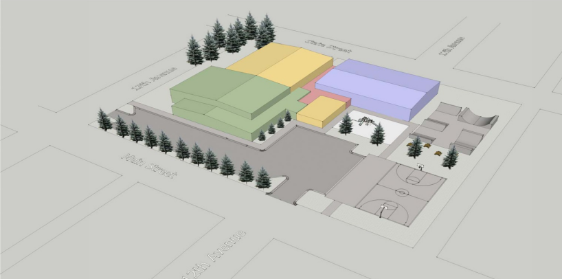 A recreation center expansion conceptual design from Architects Alaska.