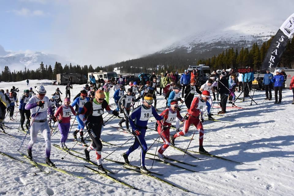 The 2016 Buckwheat Ski Classic starting line. (Photo Credit: Jeff Brady)