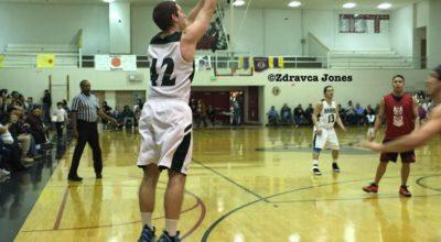 Kyle Fossman shoots a basket for the Haines B bracket team. (Zdravca Jones)