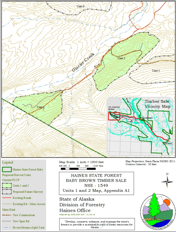 The two parcels included in the completed forest land use plan.