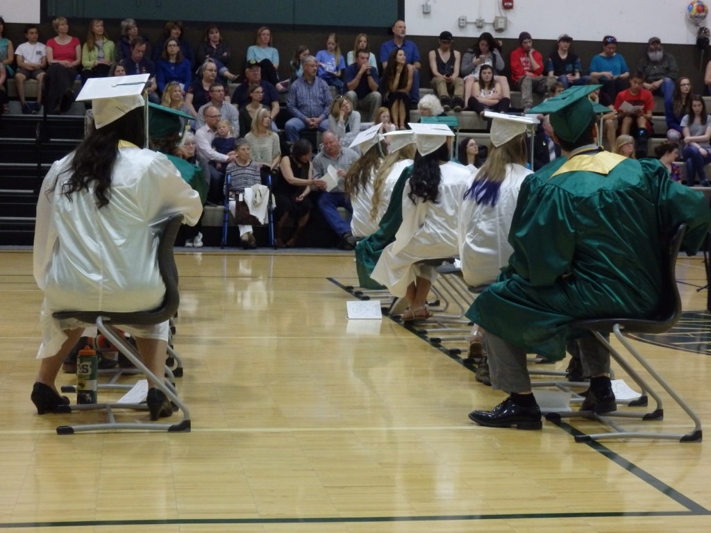 Seventeen students graduate from the Haines School