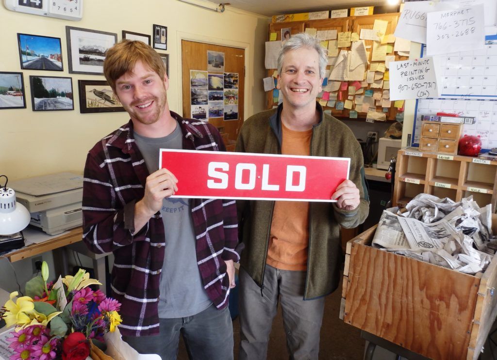 Kyle Clayton bought the Chilkat Valley News from longtime reporter and five-year owner Tom Morphet. (Emily Files)