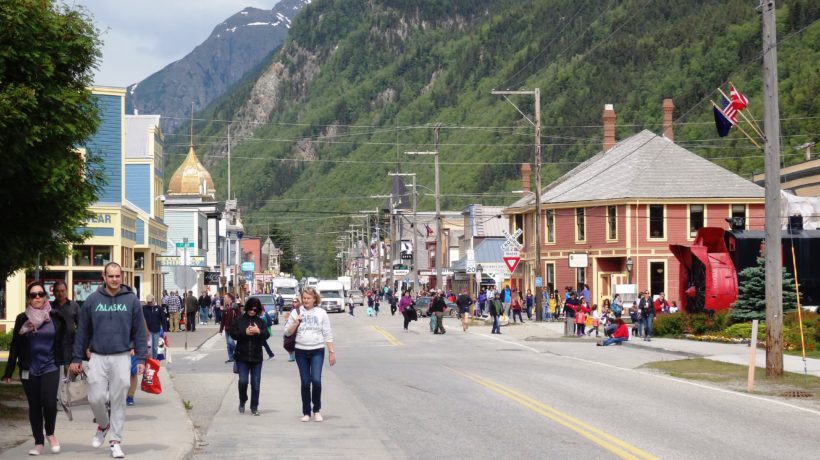 Skagway's Broadway Street on a summer day. (Emily Files)