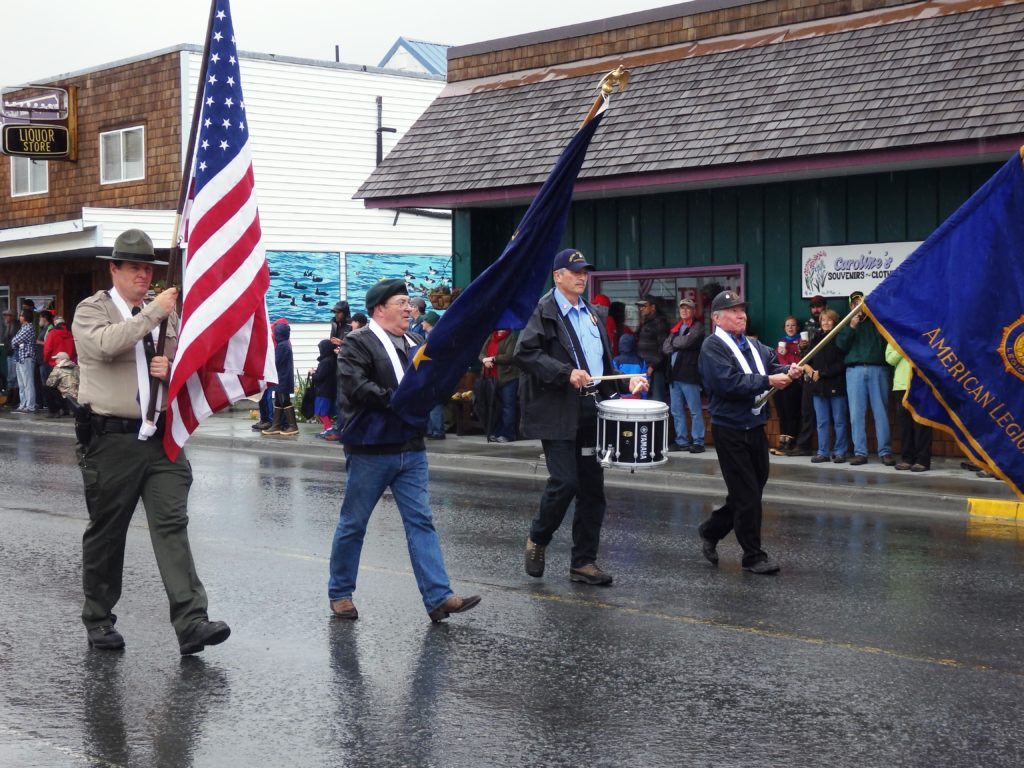 The leaders of the Haines parade.