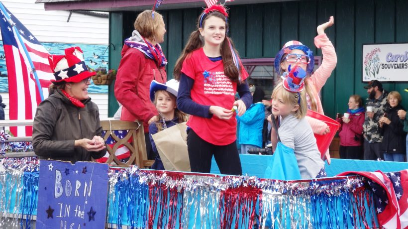 A patriotic float in the Haines parade.