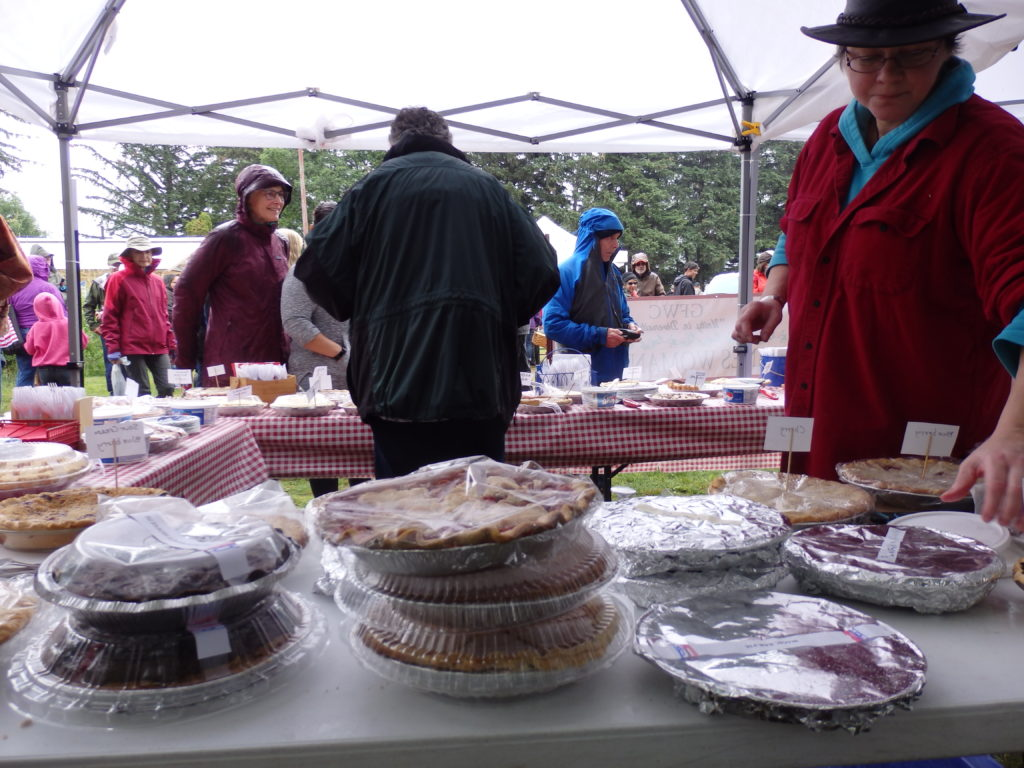 Volunteers made more than 60 pies for the Haines Women's Club sale in Tlingit Park.