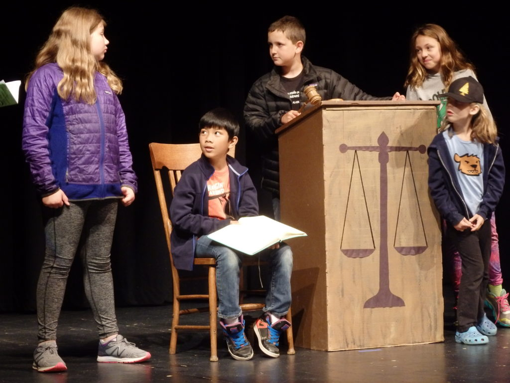 Selby Long (left) plays Mr. Toad. In this scene, Toad is sentenced to jail time after stealing a car. (Emily Files)