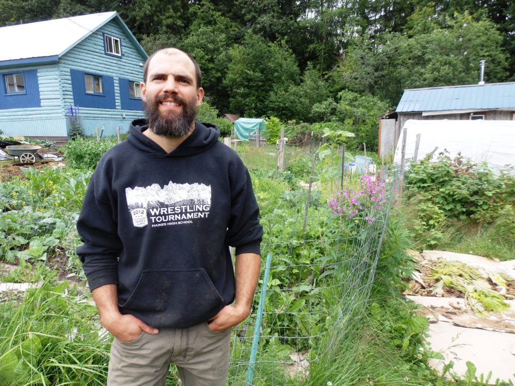 Andrew Cardella has expanded his backyard garden over the past four years. Now he wants to help other people build their own gardens. (Emily Files)