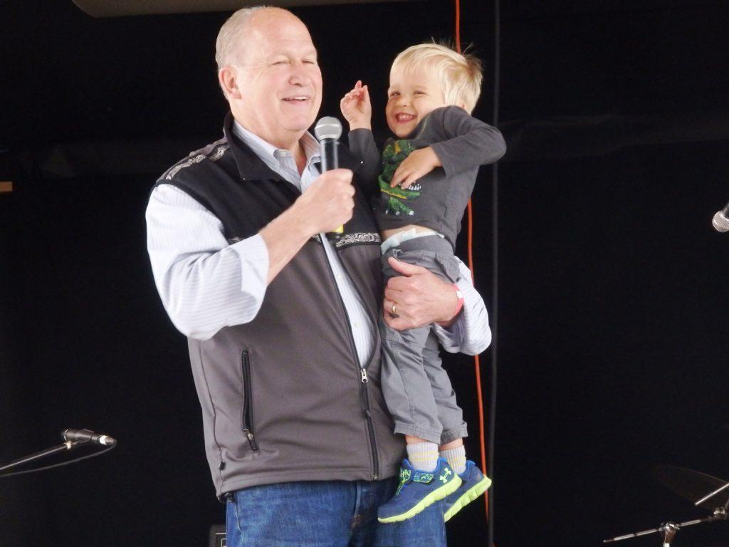 Alaska Gov. Bill Walker made an appearance with his grandson. Lt. Gov. Byron Mallott attended the fair also.