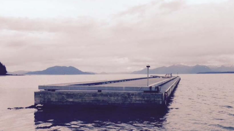The Gustavus float. (Haines Borough)