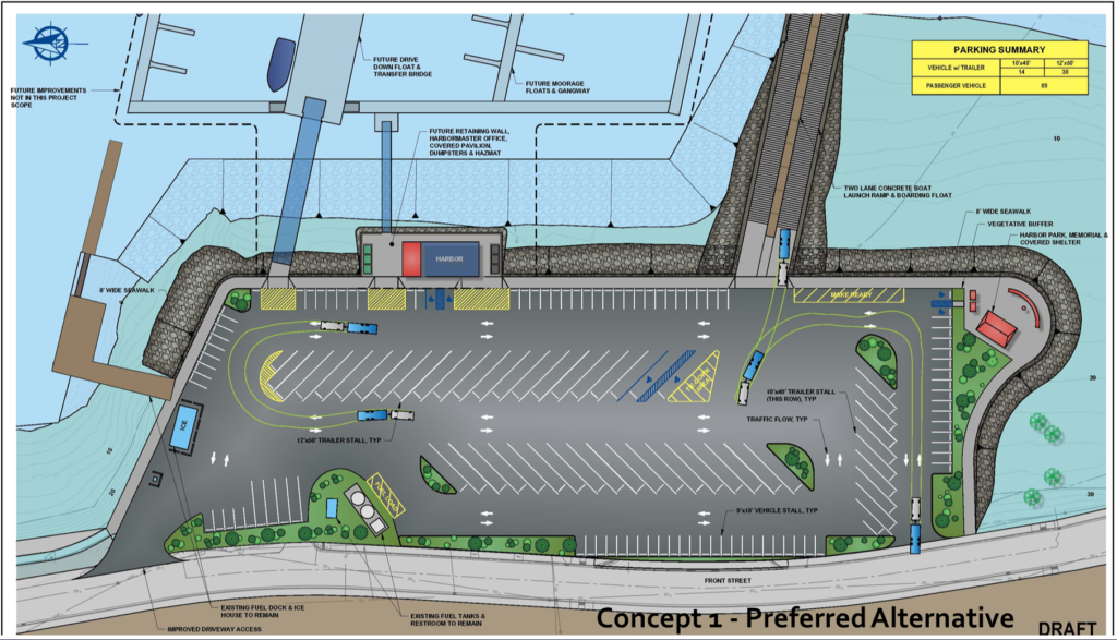 This phase two concept was endorsed by the planning commission and many of the residents at a recent meeting. But engineers have some adjustments to make before moving the design planning forward. (PND Engineers)