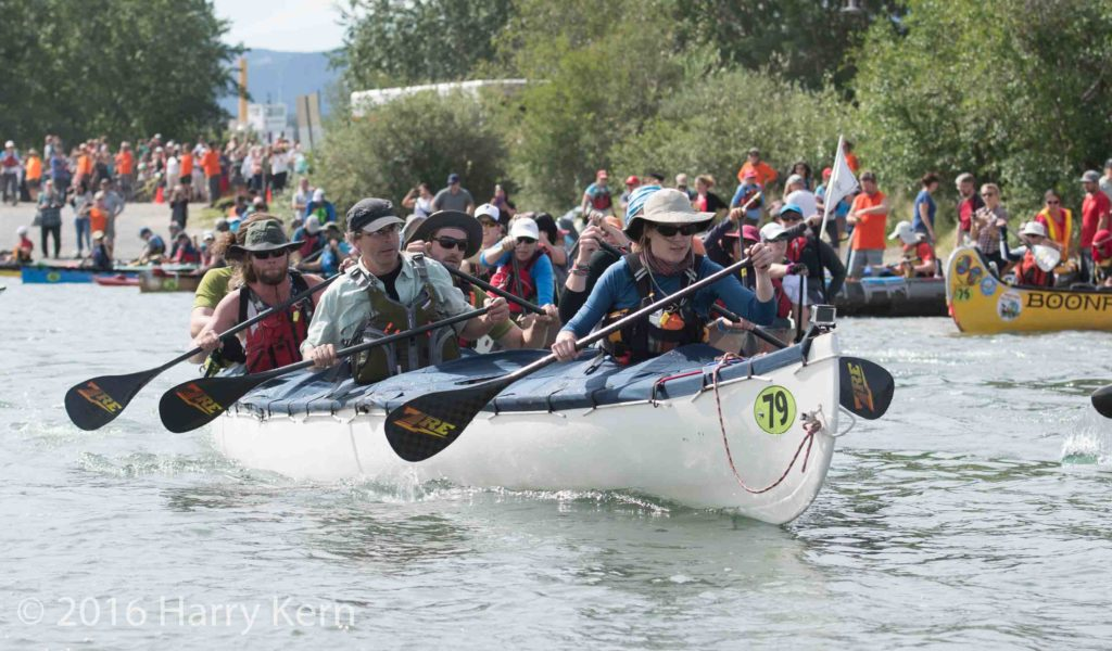 "Nearly 70 teams paddle the Yukon River in ""Race to the Midnight Sun"""