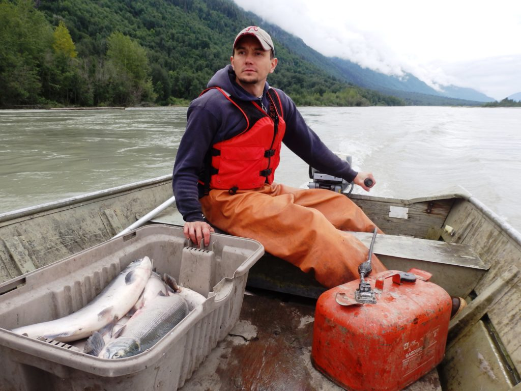 Jeremy Strong is from Klukwan but now lives in Sitka. When he visits home, he spends a lot of his time subsistence fishing for his Sitka and Klukwan families. (Emily Files)