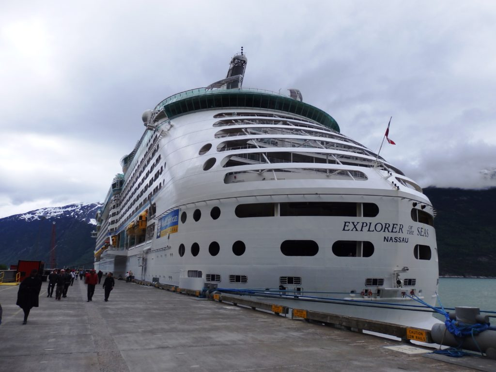 The Explorer of the Seas moored at the railroad dock in 2016. (Emily Files)