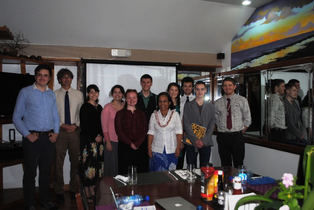Skagway students with Marshall Islands President Hilda Heine. (Courtesy Kent Fielding)