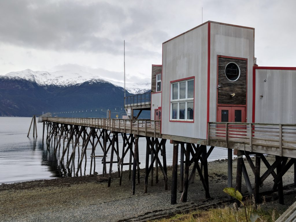 The Portage Cove dock the Chilkoot Indian Association is working to purchase from the Klukwan Inc. trust. (Berett Wilber)
