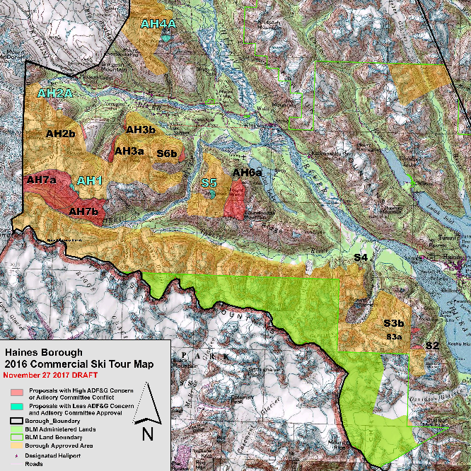 Haines Assembly reviews 2016 heliski map amendment proposals