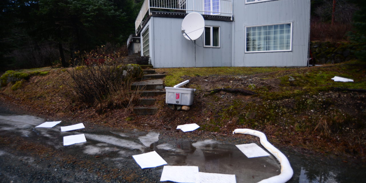 Fuel spills downhill on Young Road
