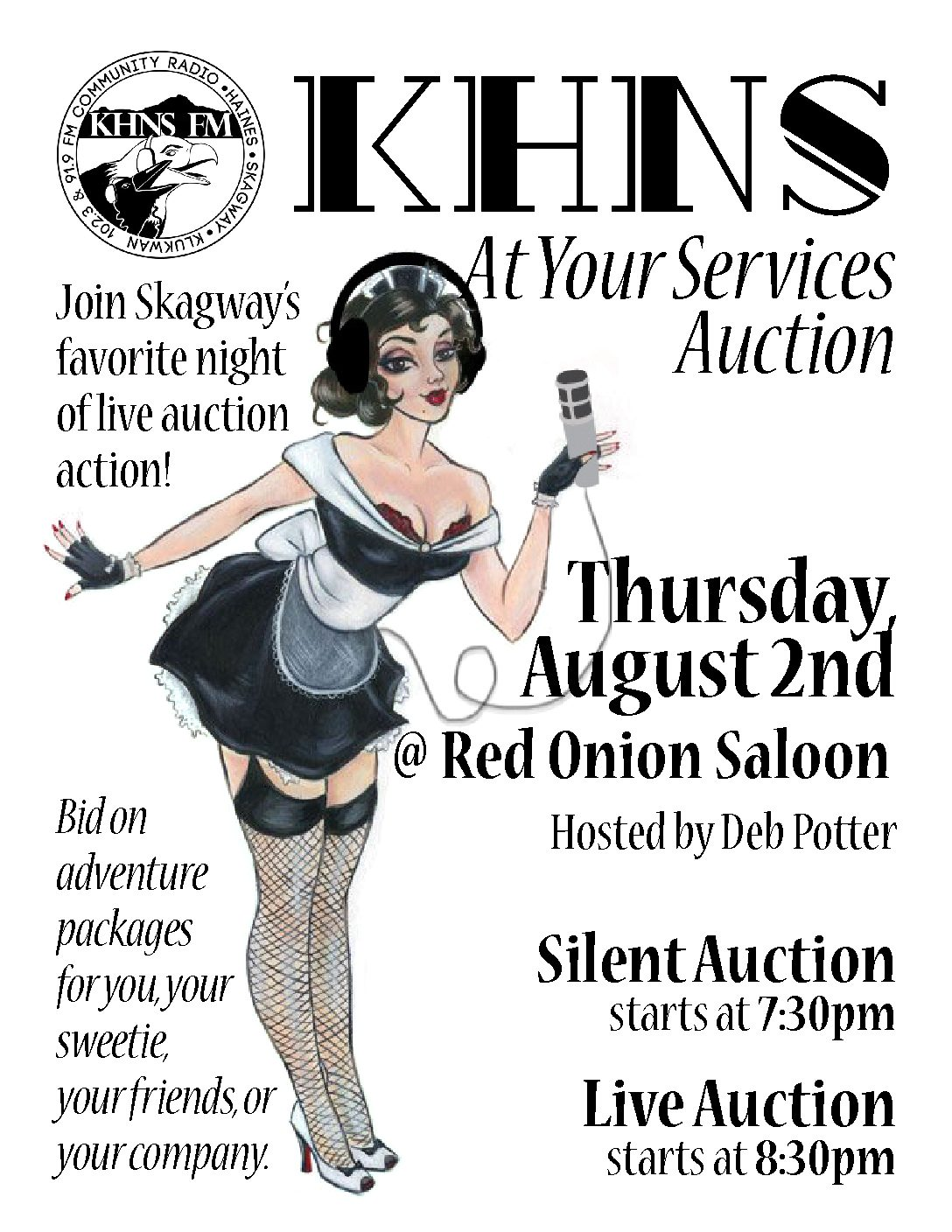 """The KHNS Skagway Auction """"At Your Service""""."""
