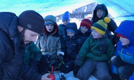 Students learn survival skills over winter break in Haines