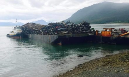 Scrap metal pick-up in Haines