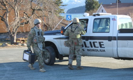 U.S. Army explosives team removes antique mortar from Haines Sheldon Museum