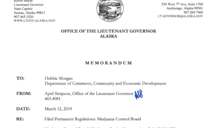 Alaska is the first state to give the regulatory green light to on-site marijuana consumption