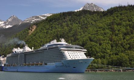 Skagway welcomes the biggest cruise ship in Alaskan waters