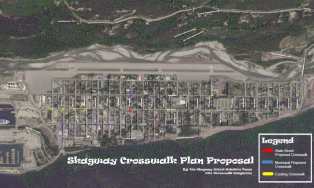 Skagway robotics team's crosswalk proposal moves to Finance Committee